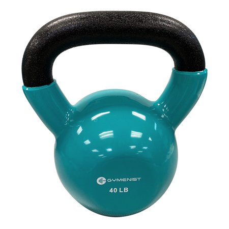 Kettlebell Fitness Iron Weights With Vinyl Coating Around The Bottom Half of The Metal Kettle Bell Exercise Body