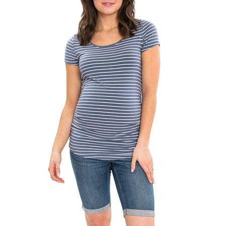 Sleeve Maternity Hoodie - Maternity Short Sleeve Scoop Neck Tshirt
