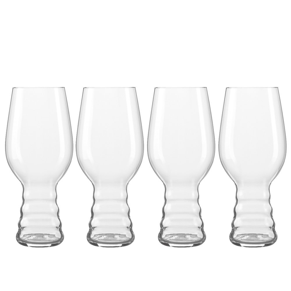 4991382 IPA Craft Beer Glasses (Set of 4), Clear, 19 oz IPA Glass designed in conjunction... by