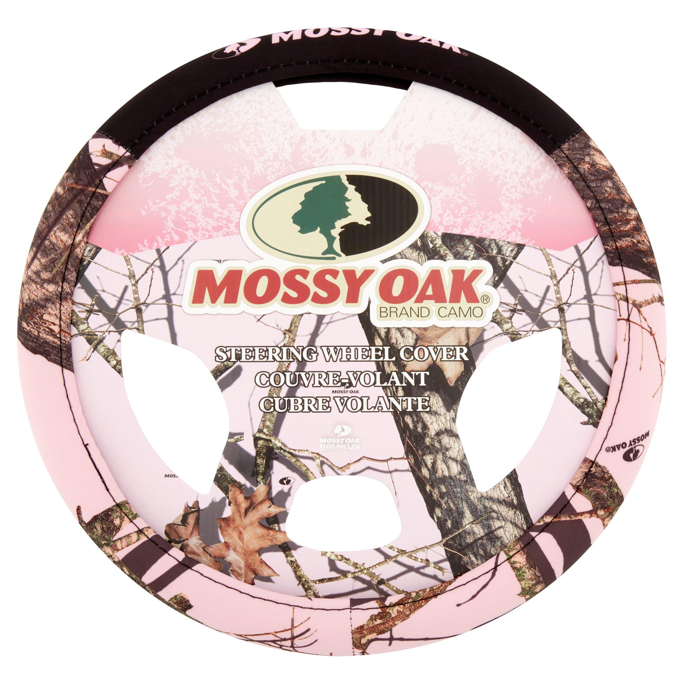 Mossy Oak Breakup Steering Wheel Cover with Pink Logos /& Trim