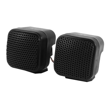 Vehicle Car Square Black Audio Loud Speaker Dome Tweeters 500 Watts 2 Pcs - image 3 of 3