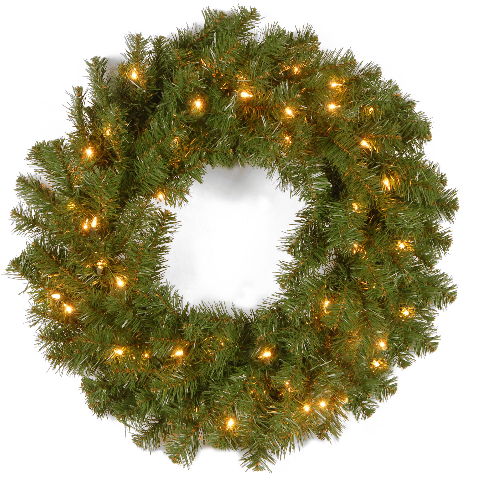 "National Tree 24"" Kincaid Spruce Wreath with 50 Clear Lights"