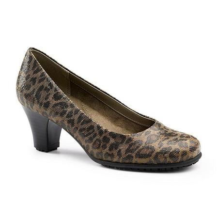 Aerosoles SureGrip Women's Red Hot Leopard Heel