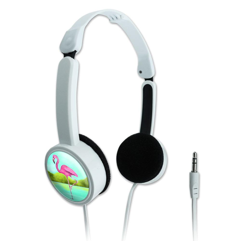 Flamingo Novelty Travel Portable On-Ear Foldable Headphones