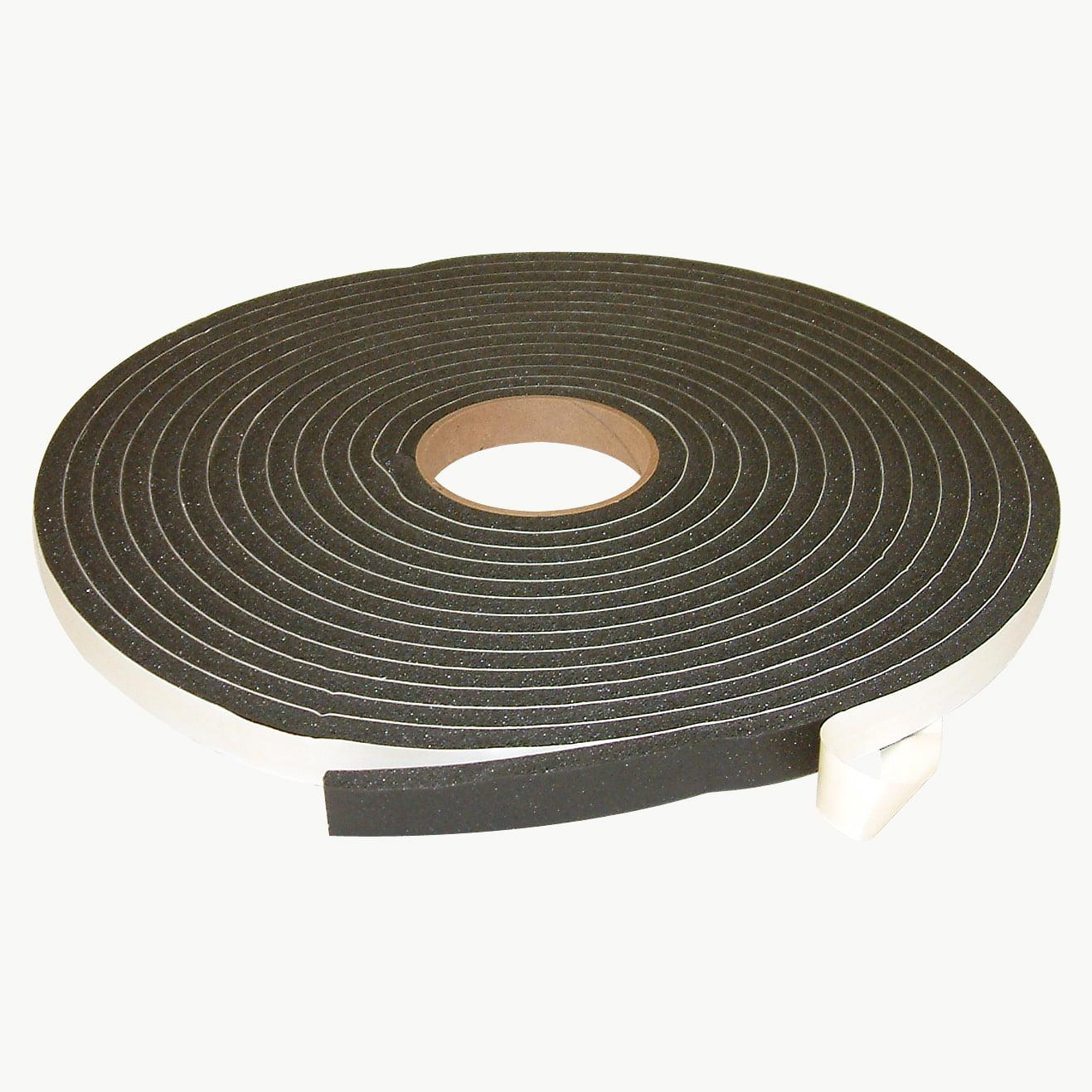 JVCC SCF-01 Single Coated PVC Foam Tape: 3/8 in. thick x 3/4 in. x 30 ft. (Black)