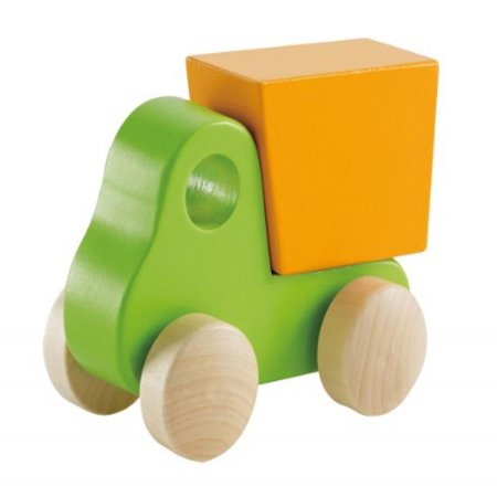 Wooden Toy Truck - Hape Little Dump Truck Toddler Wooden Toy Vehicle in Green