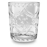 TarHong Scroll Cut 16 oz. Plastic Cocktail Glasses (Set of 6)