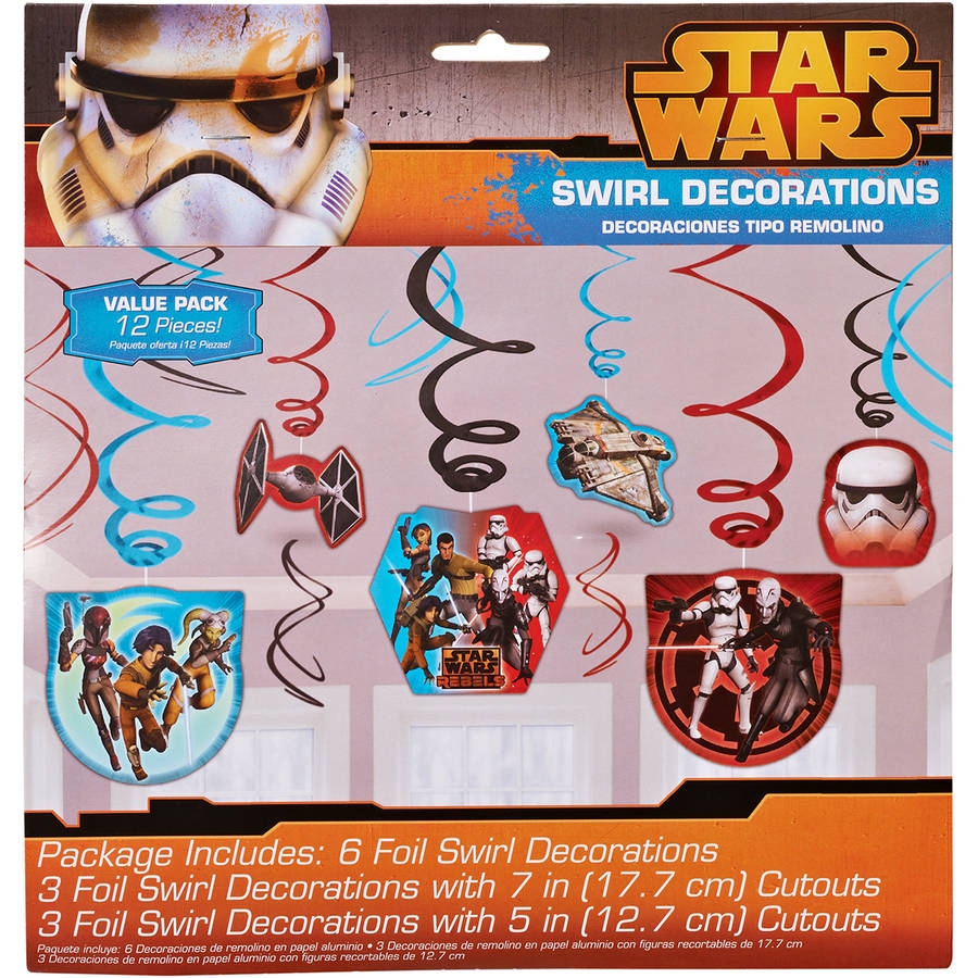 Star Wars Rebels Hanging Party Decorations, Party Supplies