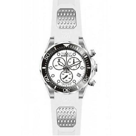 - 11480 Men's Pro Diver White Dial White Rubber Strap Chronograph Dive Watch