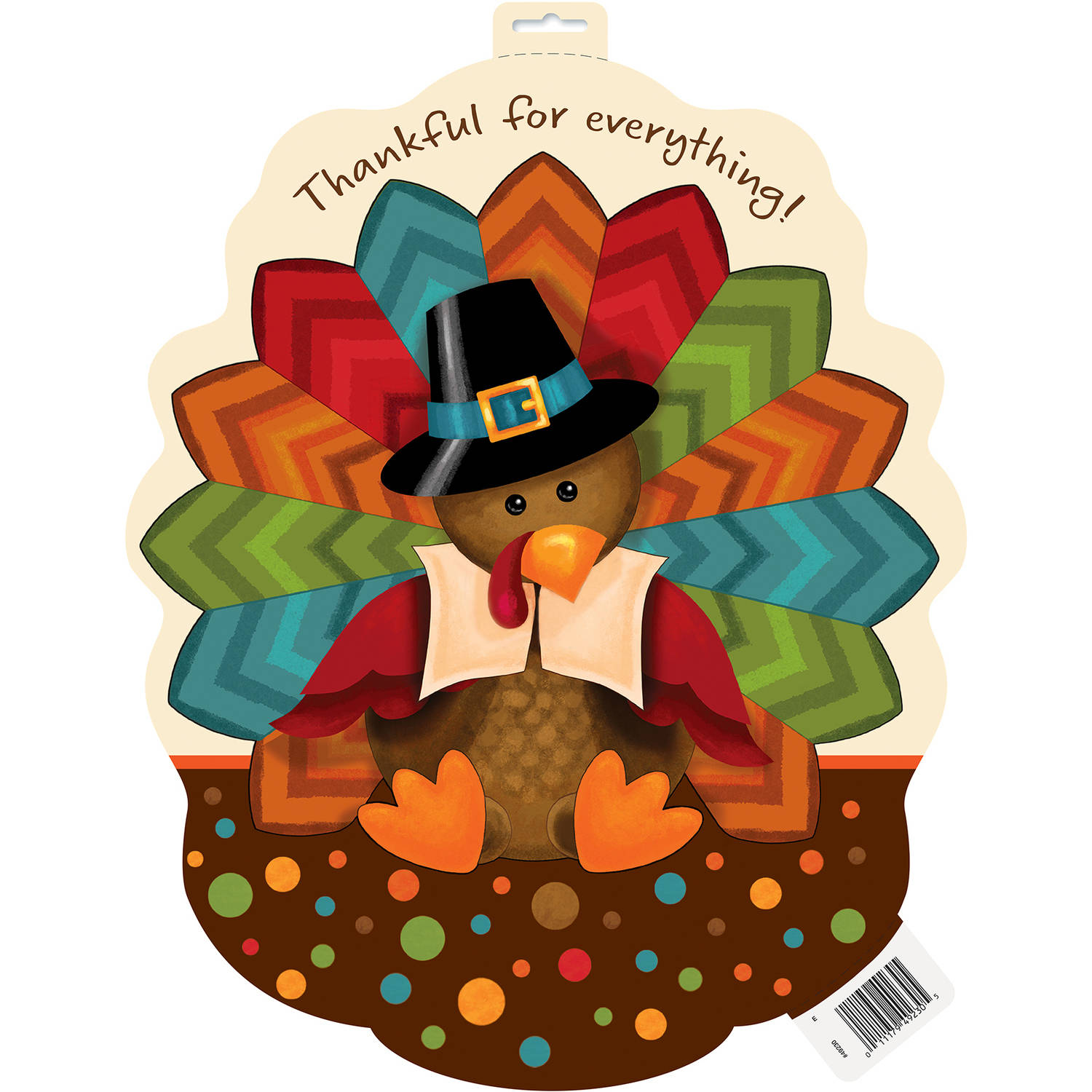 "16.5"" Paper Cut Out Cute Turkey Thanksgiving Decoration"
