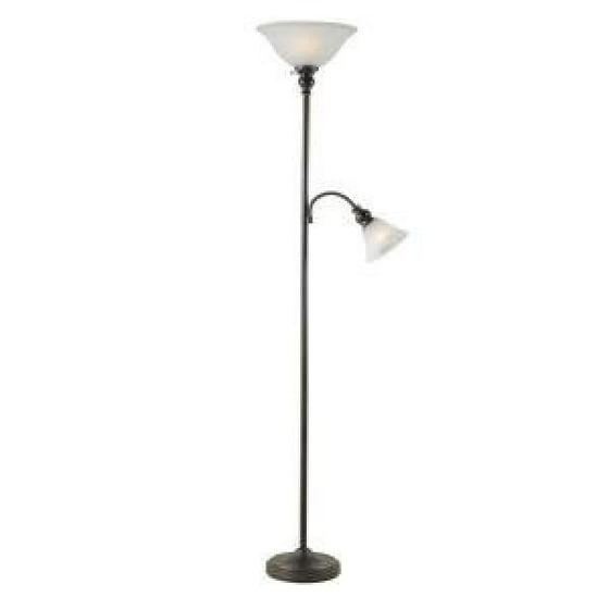 Hampton Bay 71 5 In Antique Bronze Finish Floor Lamp With