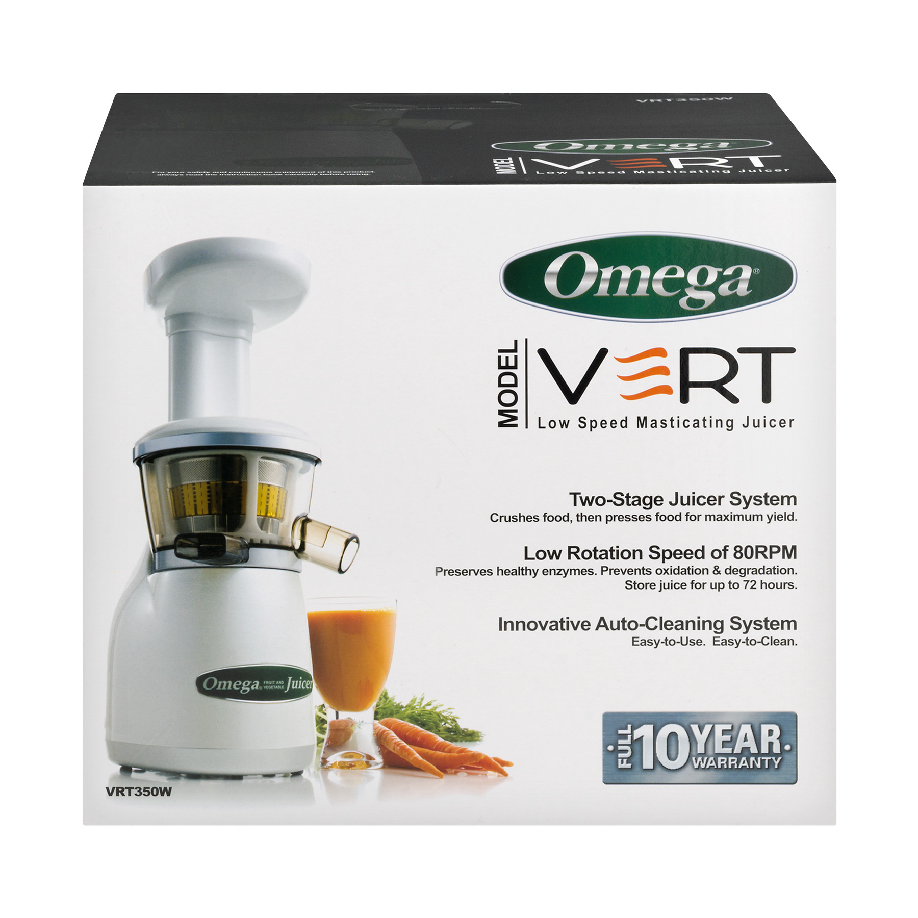 Omega VERT Low Speed Masticating Juicer, 1.0 CT