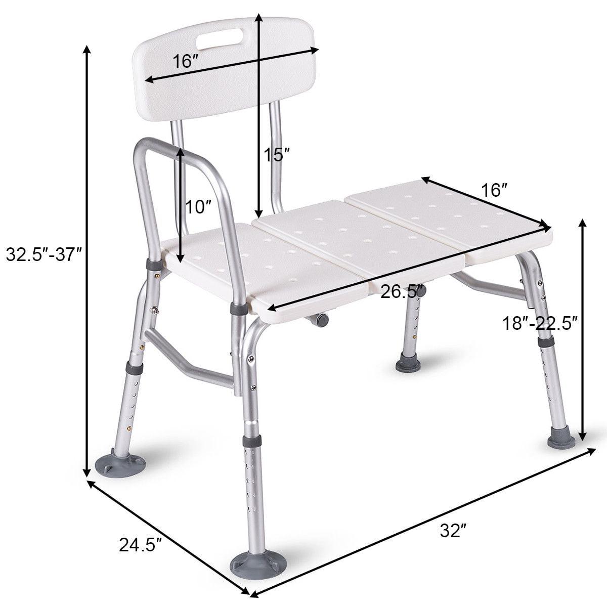 Shower Bath Seat Medical Adjustable Bath Tub Transfer