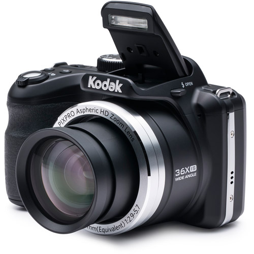 Kodak Black AZ361-BK Digital Camera with 16.15 Megapixels and 36x Optical Zoom