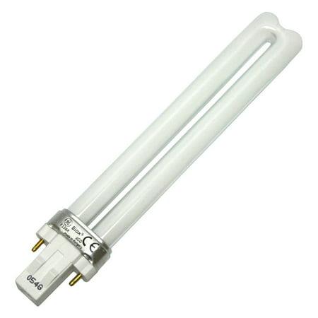 G E LIGHTING 13-Watt CFL Plug In 2 Pin Double Biax Bulb - Biax 2 Pin Plug