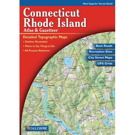 Delorme connecticut and rhode island atlas & gazetteer: 9780899333519