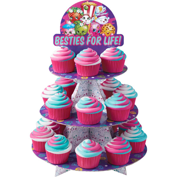 Shopkins Besties for Life Cupcake Stand - Holds 24 Cupcakes