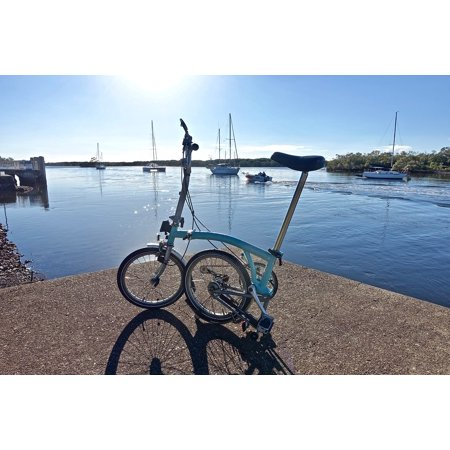 Canvas Print Brompton Bicycle Lifestyle Leisure Adventure Stretched Canvas 10 x