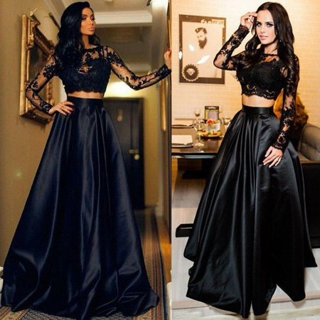 Women Formal Wedding Bridesmaid Long Evening Party Ball Prom Gown Cocktail Maxi - Prom Queen Halloween Fancy Dress