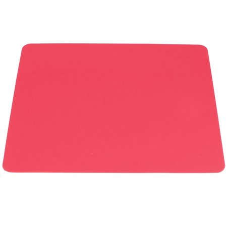 Red Rectangle Silicone Notebook PC Mouse Pad Mat Spare