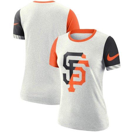 San Francisco Giants Nike Women's Slub Two-Tone Logo Performance T-Shirt - White