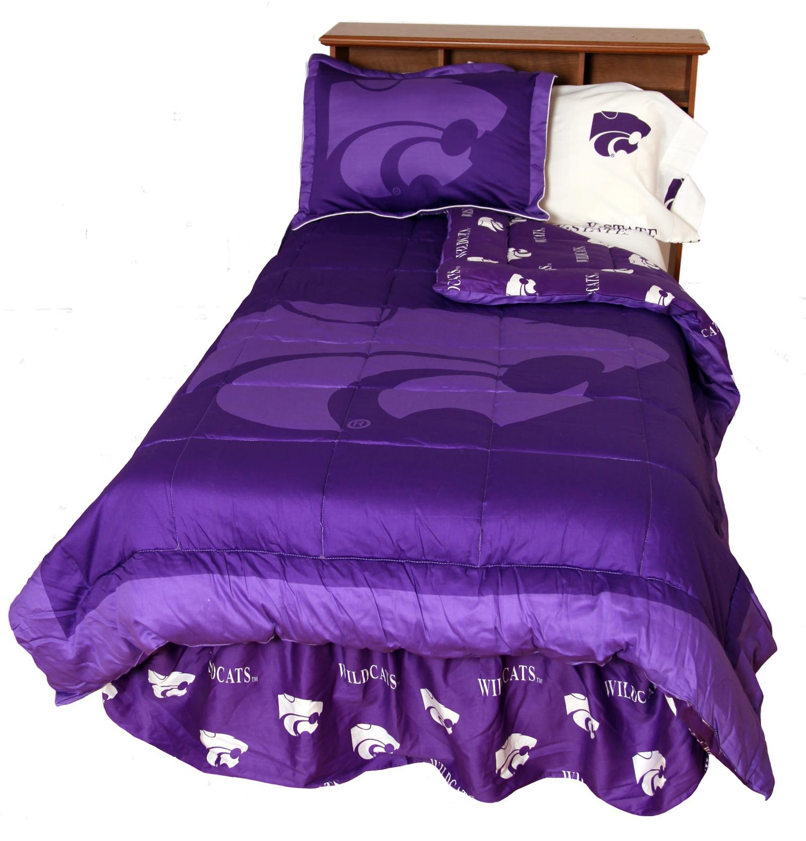 Kansas State Wildcats 2 Pc Comforter Set, 1 Comforter, 1 Sham, Twin