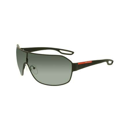 Prada Men's PS52QS-DG01A1-37 Black Shield Sunglasses