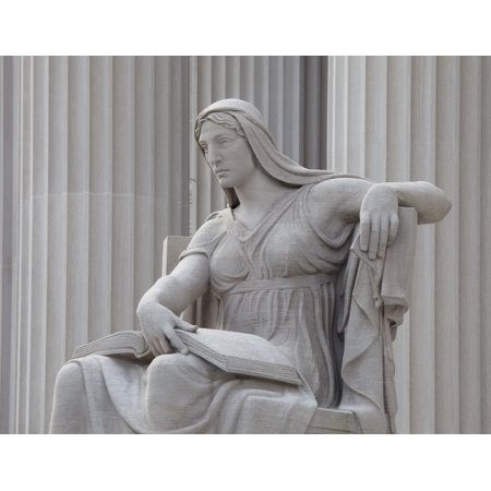 Architect John Russel Pope placed four monumental statues around the National Archives This Statue entitled The Future was designed by Robert I Aitken and carved by the Piccirilli Brothers Company fro
