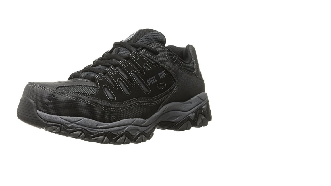 Skechers for Work Cankton Athletic Lace Boot Black/Charcoal 13 M US