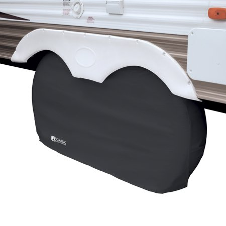 Classic Accessories OverDrive Dual Axle Wheel RV Cover, Fits up to 27
