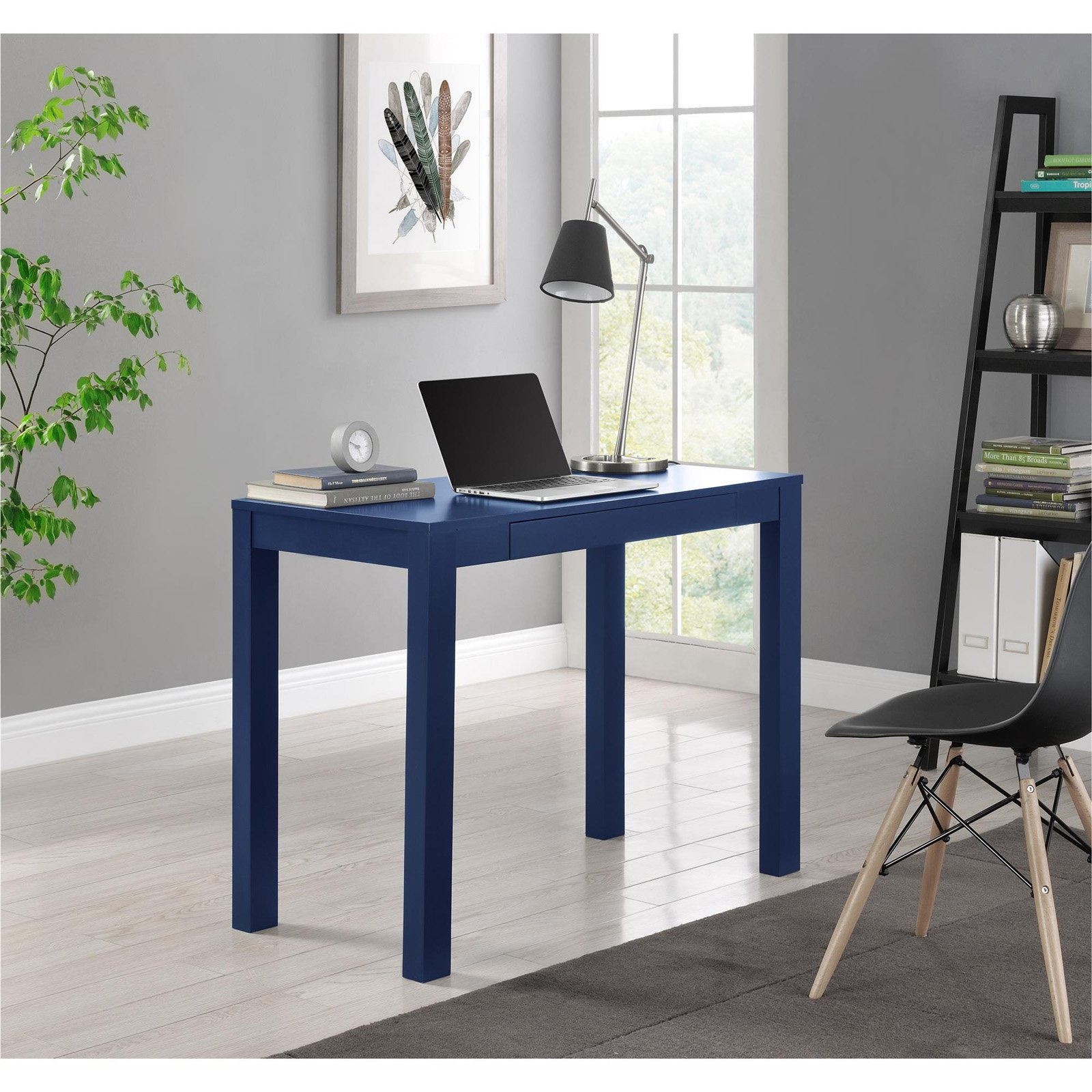 Altra Parson Desk with Drawer, Blue