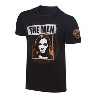 "Official WWE Authentic Becky Lynch ""The Man"" Photo T-Shirt Black Small"