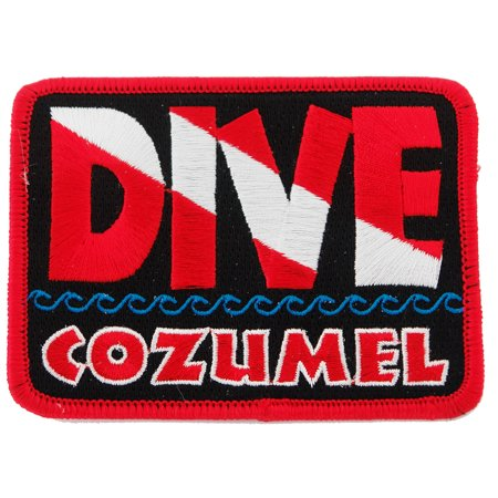 Dive Cozumel Embroidered Iron-on Scuba Diving Patch (Dive Cozumel)