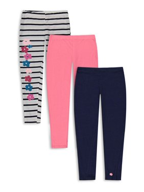 Limited Too Girls Solid and Printed Leggings, 3-Pack, Sizes 7-12