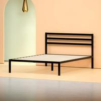 Deals on Zinus Modern Studio 14-in Metal Platform Bed w/Headboard Twin