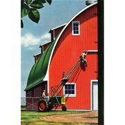 """Marmont Hill Mh-Fmkit-85-C-18 18"""" X 12"""" """"Busy Working"""" Giclee Art Print"""
