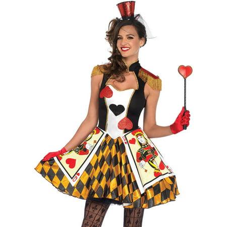 Leg Avenue Women's Wonderland Queen's Heart Card Guard Halloween Costume