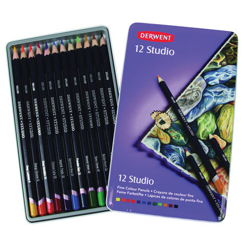 Derwent Studio Pencil Sets (set of 36), Multi