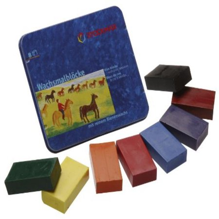 - Stockmar Beeswax Block Crayons - 8 Standard Colours in a Tin