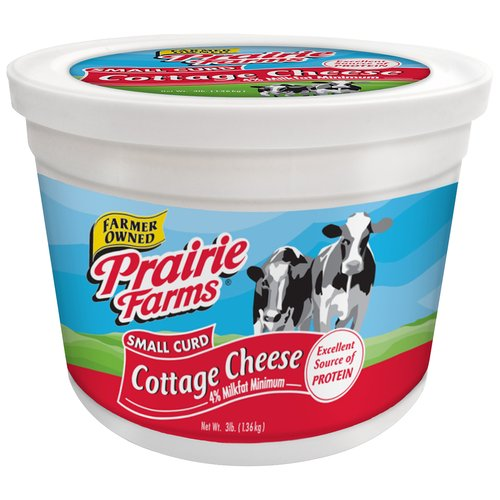 Prairie Farms Small Curd Cottage Cheese, 48 Oz.