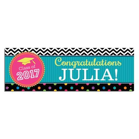 Personalized Congrats! Graduation Banner