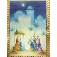 Trimmerry Christian Christmas Cards Three Wise Men Baby Jesus Manger Scene