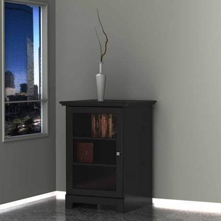 Pinnacle Black 1-Door Audio Tower