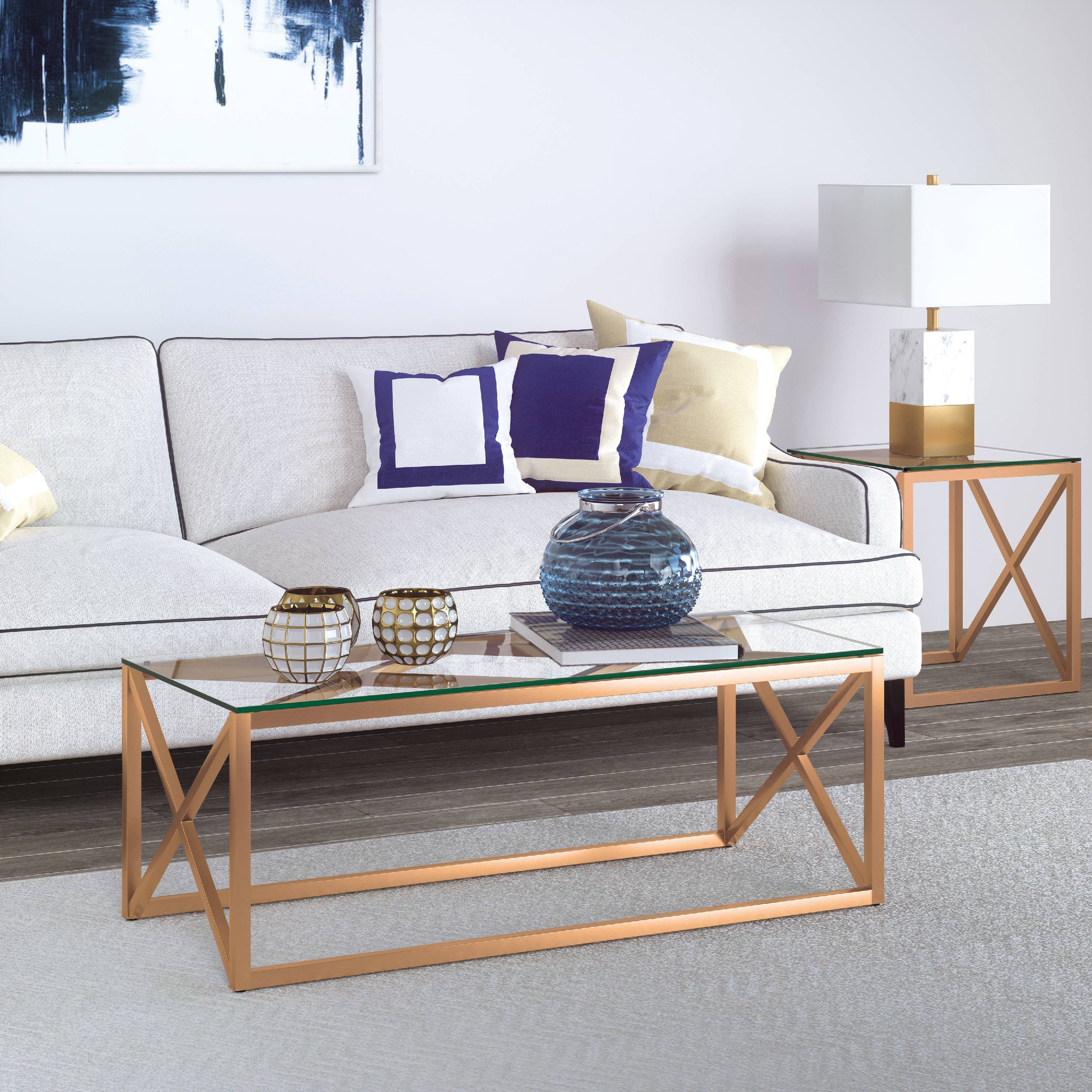 Dixon coffee table in gold