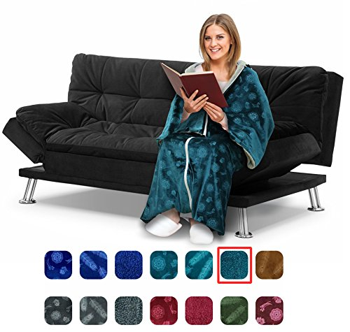 c zee deluxe wearable blanket for adults elegant cozy extra soft plush throw blanket ideal. Black Bedroom Furniture Sets. Home Design Ideas