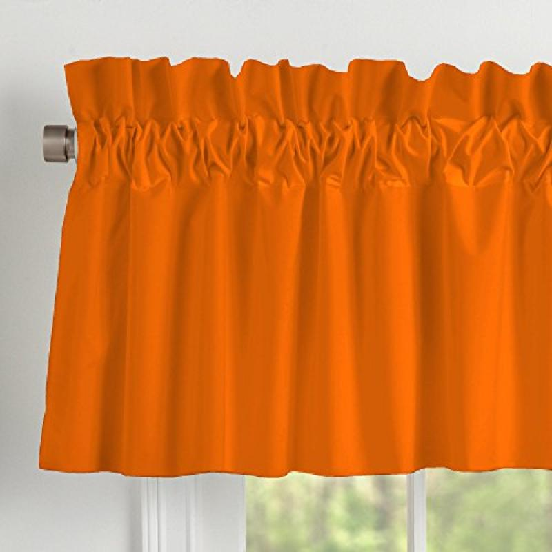 Carousel Designs Solid Orange Window Valance Rod Pocket by Carousel Designs