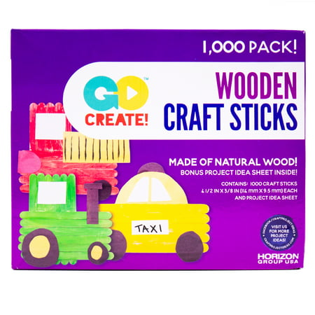 Kids Craft Wooden Craft Sticks, 1,000 Piece