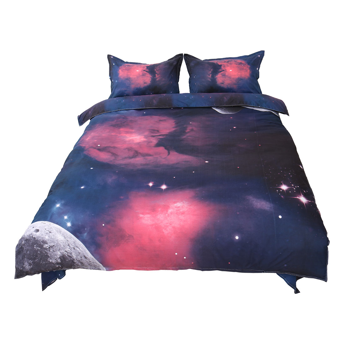 3D Blue Ocean Bedding Set Sky 3 Piece Bedlinen Duvet Quilt Cover Sets Twin