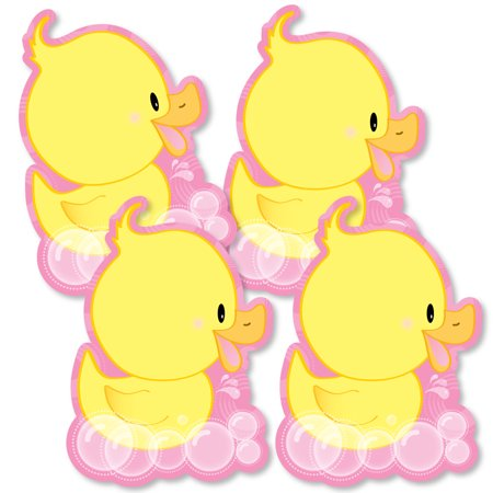 Pink Ducky Duck - Decorations DIY Baby Shower or Birthday Party Essentials - Set of - Baby Shower Decorations Ducks
