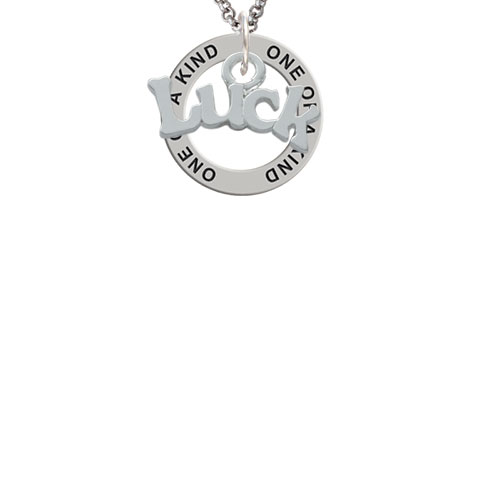 Luck One of a Kind Affirmation Ring Necklace